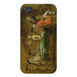 Figures in a Tavern or Coffee House, 1720s (oil on iPhone 4 Case