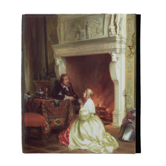 Figures in an Interior (oil on panel) iPad Folio Cover