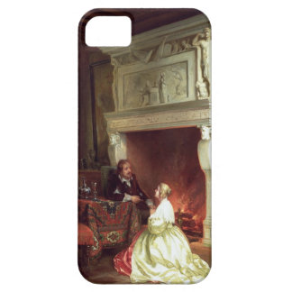 Figures in an Interior (oil on panel) iPhone SE/5/5s Case