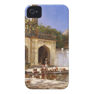 Figures in the Courtyard of a Mosque by Edwin Lord iPhone 4 Cover