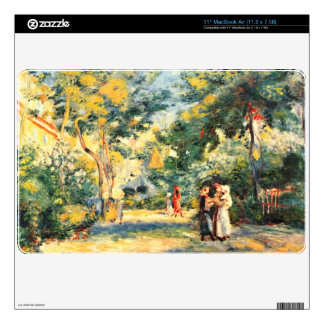 Figures in the garden by Pierre Renoir Decal For MacBook
