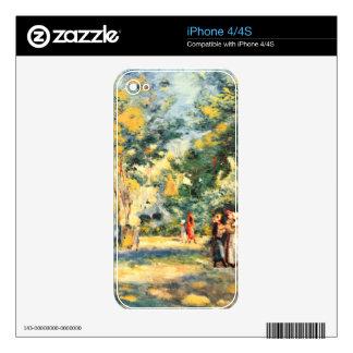 Figures in the garden by Pierre Renoir iPhone 4S Skin