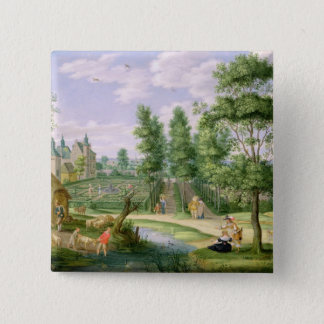 Figures in the Grounds of a Country House Button