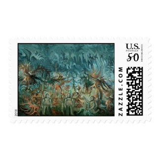 Figures in the landscape postage