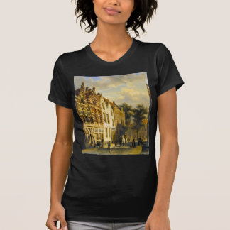 Figures in the Sunlit Streets of a Dutch Town T-Shirt