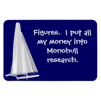 Figures-Money in monohulls. SFO AC Senior Sailors Rectangular Photo Magnet