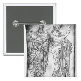 Figures of two apostles or prophets pins