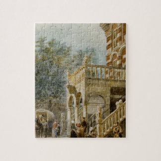 Figures on the Bank in Deventer Cornelis Springer Jigsaw Puzzle