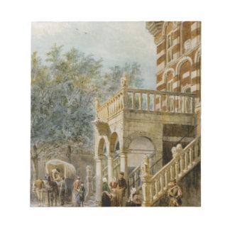 Figures on the Bank in Deventer Cornelis Springer Memo Notepad