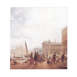 Figures on the Riva degli Schiavone by Rudolf von Notepad