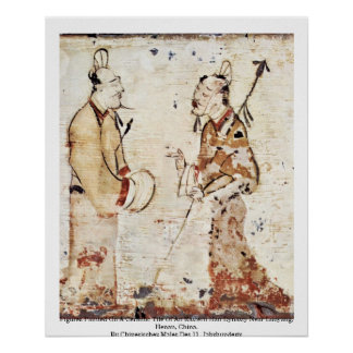 Figures Painted On A Ceramic Print