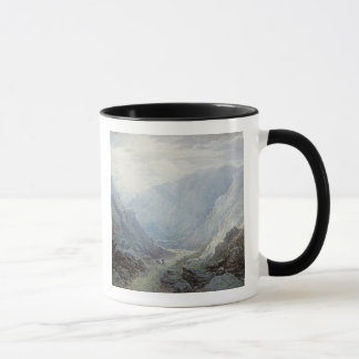 Figures Resting On The Pathway Through A Rocky Gor Mug