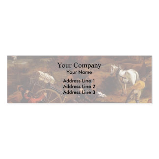 Figures With A Cart And Horses by Jan Siberechts Business Card