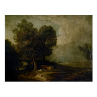 Figures with Cattle by Thomas Gainsborough Postcard