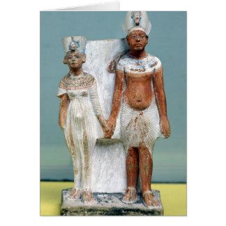 Figurilla de Amenophis IV y de Nefertiti Tarjeta De Felicitación
