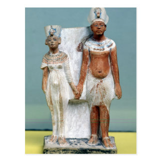 Figurilla de Amenophis IV y de Nefertiti Postal