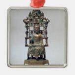 Figurilla de Buda en la meditación, Tang Ornamente De Reyes