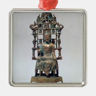 Figurilla de Buda en la meditación Tang Ornamente De Reyes
