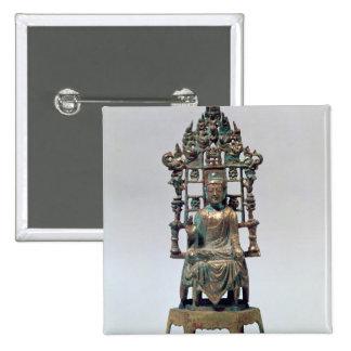 Figurilla de Buda en la meditación, Tang Pin Cuadrado