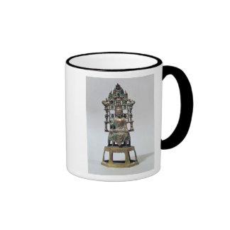 Figurilla de Buda en la meditación, Tang Tazas De Café