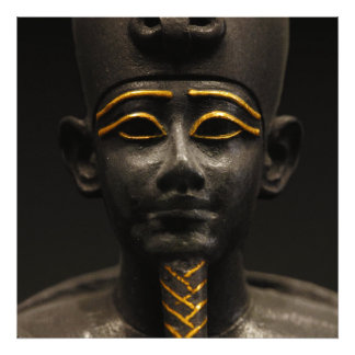 Figurilla de dios egipcio Osiris del último períod Arte Fotográfico