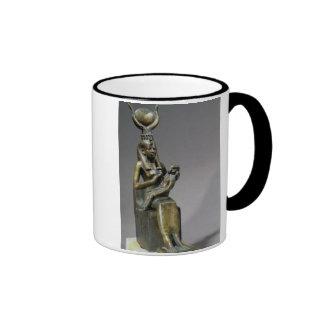 Figurilla de ISIS y del niño Horus de la diosa Tazas De Café
