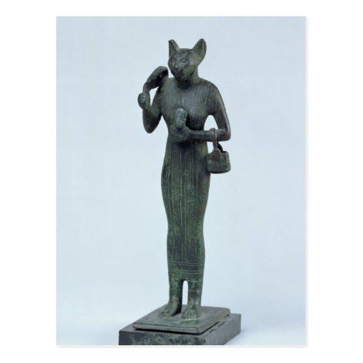 Figurilla de la diosa Bastet Postal