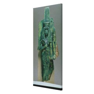 Figurilla de la reina Tiye esposa de Amenophis II Impresión En Lona Estirada