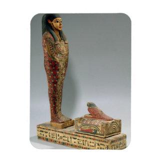 Figurilla de Osiris de Iahmes (madera pintada) Imán Flexible