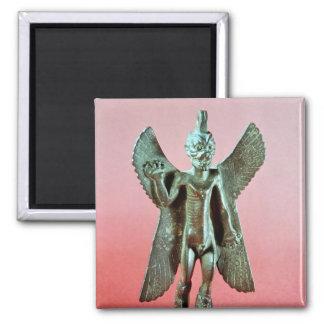 Figurilla de Pazuzu, demonio asirio del viento Imán Cuadrado