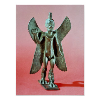 Figurilla de Pazuzu, demonio asirio del viento Póster