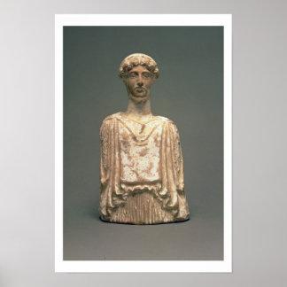 Figurilla de Persephone, ático, c.500 A.C. (terrac Póster