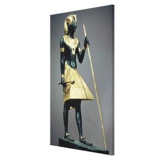 Figurilla de tamaño natural del rey impresiones en lona estiradas