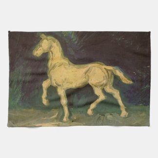 Figurilla de un caballo, arte del yeso de Van Gogh Toallas