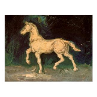 Figurilla de un caballo Vincent van Gogh del yeso Tarjeta Postal