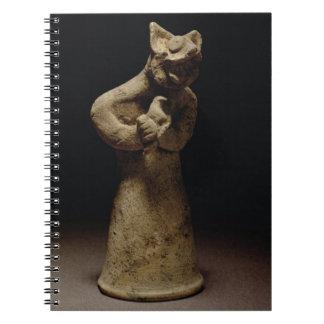 Figurilla de un demonio León-Dirigido, Mesopotamia Libreta Espiral