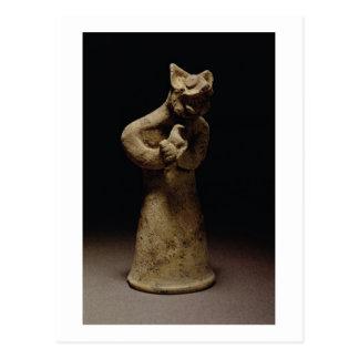 Figurilla de un demonio León-Dirigido, Tarjeta Postal