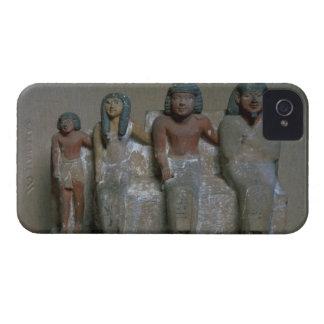 Figurilla de un grupo de la familia (pigmento en iPhone 4 Case-Mate coberturas