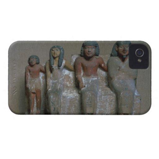 Figurilla de un grupo de la familia (pigmento en t iPhone 4 protector