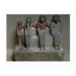 Figurilla de un grupo de la familia (pigmento en t postales