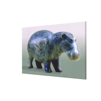 Figurilla de un hippopotamus lona estirada galerías