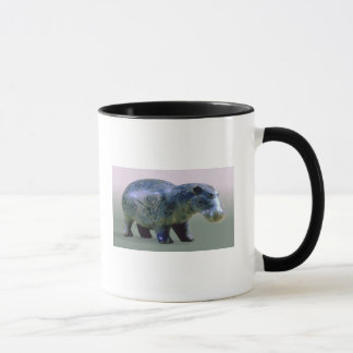 Figurilla de un hippopotamus taza