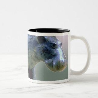 Figurilla de un hippopotamus taza de café de dos colores