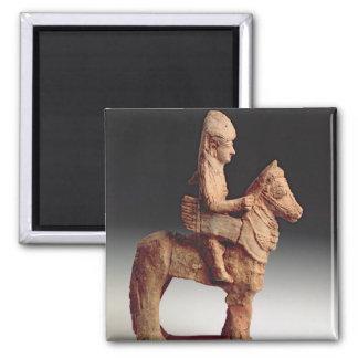 Figurilla de un jinete armado, Byblos, 8vo-6to ce Imán Cuadrado