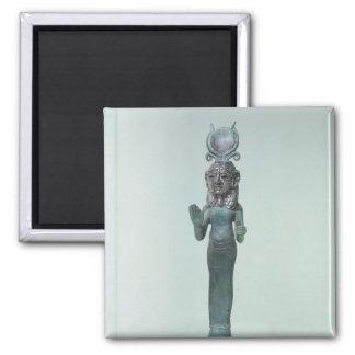Figurilla de una diosa fenicia imán cuadrado
