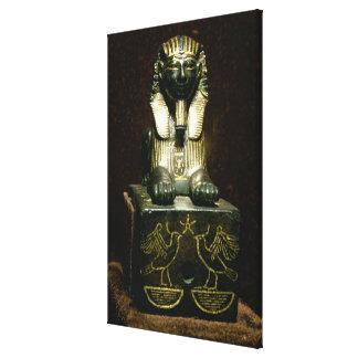 Figurilla de una esfinge de rey Tuthmosis III nue Impresiones En Lona Estiradas