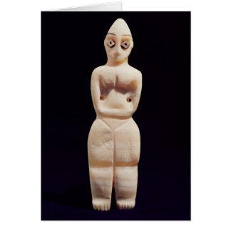 Figurilla de una mujer, temprano 4to milenio A.C. Tarjetón