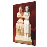 Figurilla del Seneb enano y de su familia Impresiones En Lienzo Estiradas