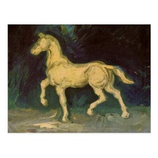 Figurilla del yeso de un caballo de Vincent van Go Tarjeta Postal