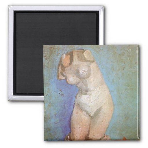 Figurilla del yeso, torso femenino; Vincent van Go Iman De Frigorífico